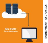 data center cloud computing... | Shutterstock .eps vector #552726265