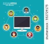 social media group interaction... | Shutterstock .eps vector #552729175