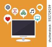 computer technology social... | Shutterstock .eps vector #552729259