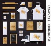 traditional bakery shop... | Shutterstock .eps vector #552729814