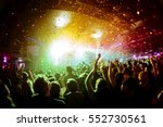shiny rainbow confetti during... | Shutterstock . vector #552730561