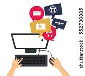 computer social media group... | Shutterstock .eps vector #552730885