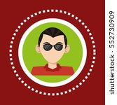character man business glasses... | Shutterstock .eps vector #552730909