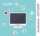 computer technology social... | Shutterstock .eps vector #552731059