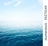 blue sea with waves and clear... | Shutterstock . vector #55273144