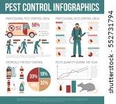 pest control infographics... | Shutterstock .eps vector #552731794