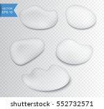 realistic water drops set... | Shutterstock .eps vector #552732571