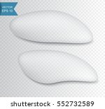 realistic water drops set... | Shutterstock .eps vector #552732589