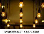 vintage bulbs decor interiors ...   Shutterstock . vector #552735385