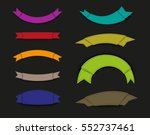 vector paper banners.set of... | Shutterstock .eps vector #552737461