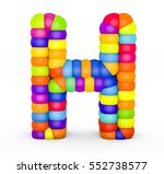 3d render letter h made with... | Shutterstock . vector #552738577