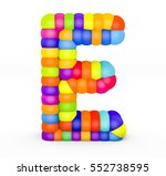 3d render letter e made with...   Shutterstock . vector #552738595