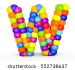 3d render letter w made with... | Shutterstock . vector #552738637