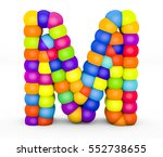 3d render letter m made with...   Shutterstock . vector #552738655