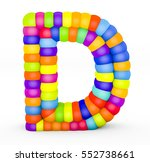3d render letter d made with... | Shutterstock . vector #552738661
