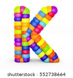 3d render letter k made with... | Shutterstock . vector #552738664