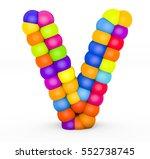3d render letter v made with...   Shutterstock . vector #552738745