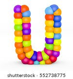 3d render letter u made with...   Shutterstock . vector #552738775