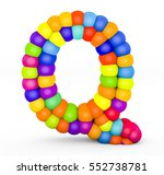 3d render letter q made with... | Shutterstock . vector #552738781
