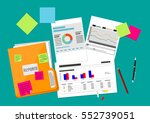 clipboard with financial... | Shutterstock .eps vector #552739051