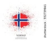 flag of norway  brush stroke...   Shutterstock .eps vector #552739861