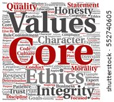 conceptual core values... | Shutterstock . vector #552740605