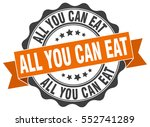 all you can eat. stamp. sticker.... | Shutterstock .eps vector #552741289