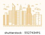 vector illustration in trendy... | Shutterstock .eps vector #552743491