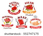 meat shop and butchery symbol...   Shutterstock .eps vector #552747175