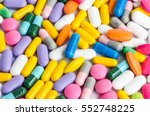pharmaceutical colorful pills... | Shutterstock . vector #552748225