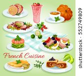 french cuisine cartoon icon of... | Shutterstock .eps vector #552749809