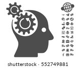brain gears rotation pictograph ... | Shutterstock .eps vector #552749881