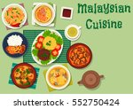 malaysian cuisine icon of... | Shutterstock .eps vector #552750424