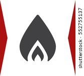 fire icon vector flat design...