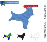 christmas island blue low poly... | Shutterstock . vector #552762151