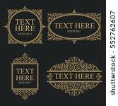 line art luxury label | Shutterstock .eps vector #552762607