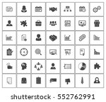 management icons | Shutterstock .eps vector #552762991