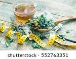 herbal tea toned photo | Shutterstock . vector #552763351