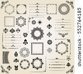 vintage set of classic elements.... | Shutterstock .eps vector #552764185