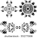 vector floral design elements | Shutterstock .eps vector #55277008