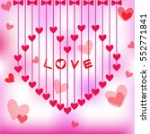 hearts for valentines day... | Shutterstock .eps vector #552771841