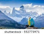 adventure traveler fall in love ... | Shutterstock . vector #552773971