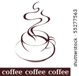 coffee cup | Shutterstock .eps vector #55277563