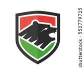 bear on shield vector logo | Shutterstock .eps vector #552779725