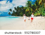 family with kid playing on... | Shutterstock . vector #552780337