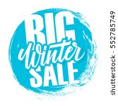 big winter sale. special offer... | Shutterstock .eps vector #552785749