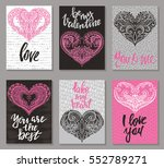 collection of romantic and love ... | Shutterstock .eps vector #552789271