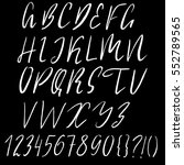 hand drawn font made by dry... | Shutterstock .eps vector #552789565