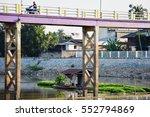 river bridge | Shutterstock . vector #552794869
