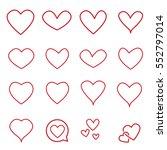 heart icon vector   love symbol ... | Shutterstock .eps vector #552797014